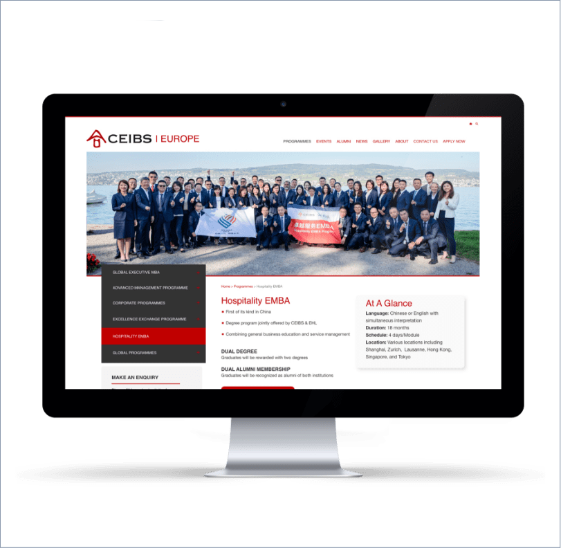 Chinese European International Business School, ICON Worldwide portfolio, drupal website development