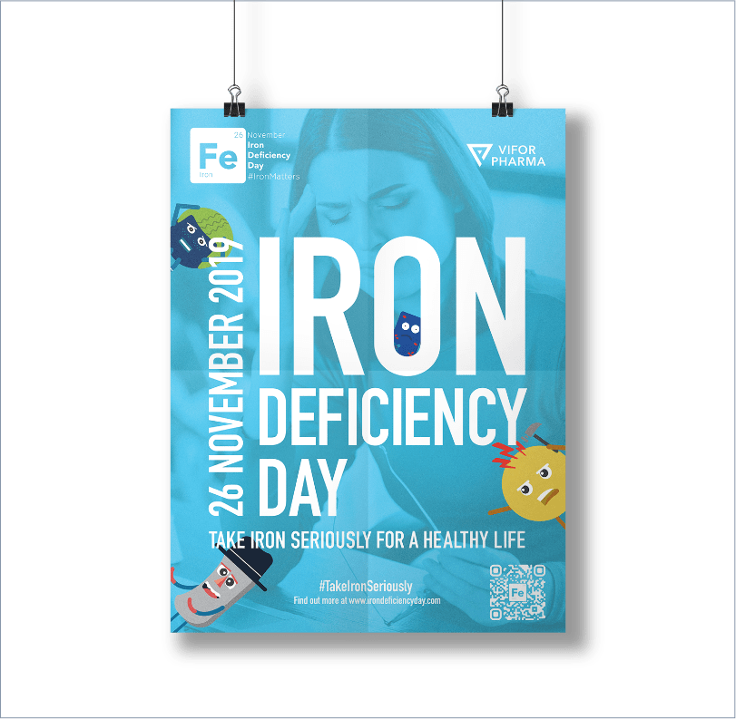 Iron Deficiency Day web project, ICON Worldwide portfolio
