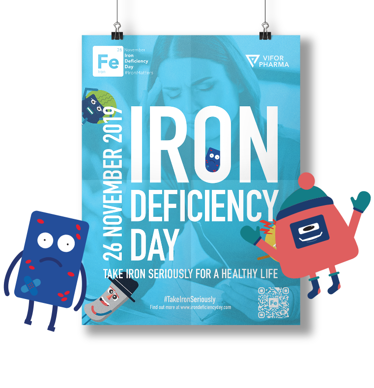 Design services, ICON Worldwide, iron deficiency day poster