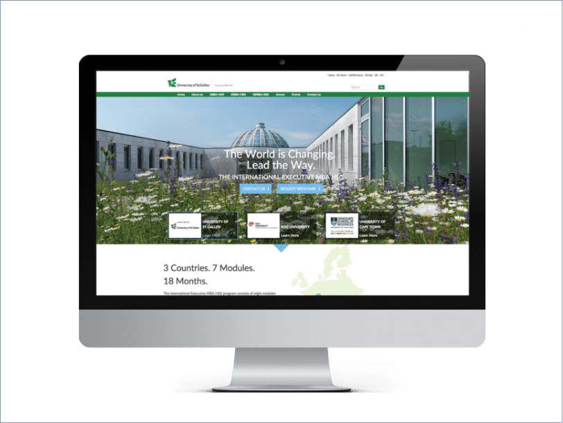 University of St.Gallen, ICON Worldwide, Drupal Development, portfolio